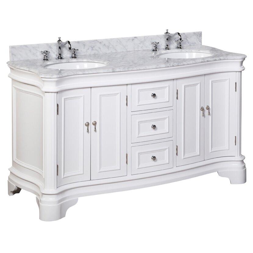 """60 Bathroom Vanities  KBC Katherine 60"""" Double Bathroom Vanity Set & Reviews"""