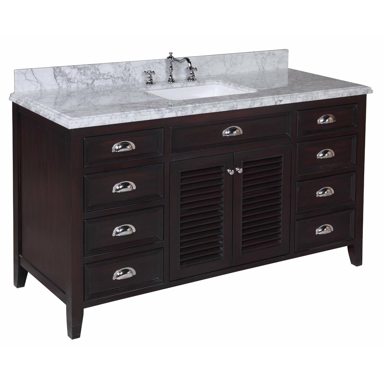 """60 Bathroom Vanities  KBC Savannah 60"""" Single Bathroom Vanity Set & Reviews"""