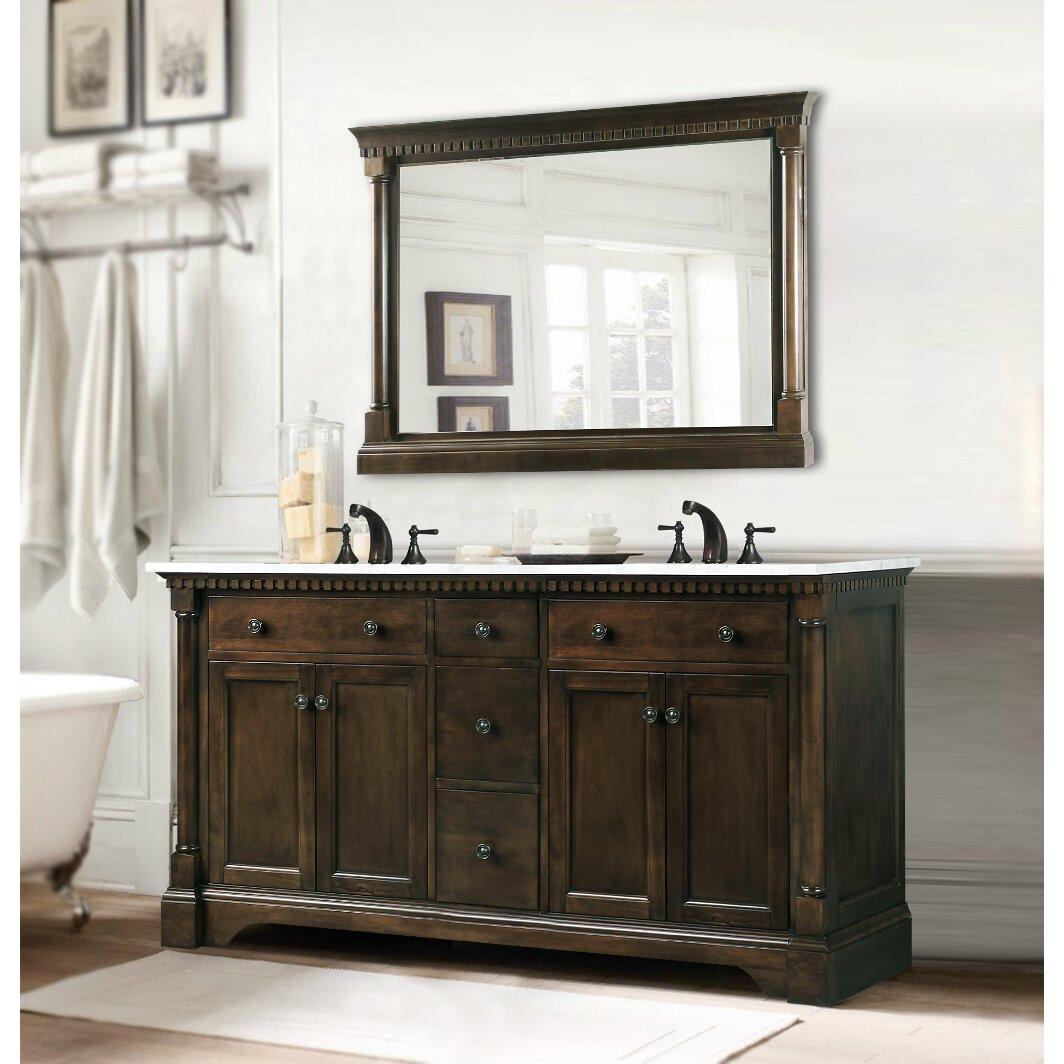 """60 Bathroom Vanities Elegant Legion Furniture 60"""" Double Bathroom Vanity Set & Reviews"""
