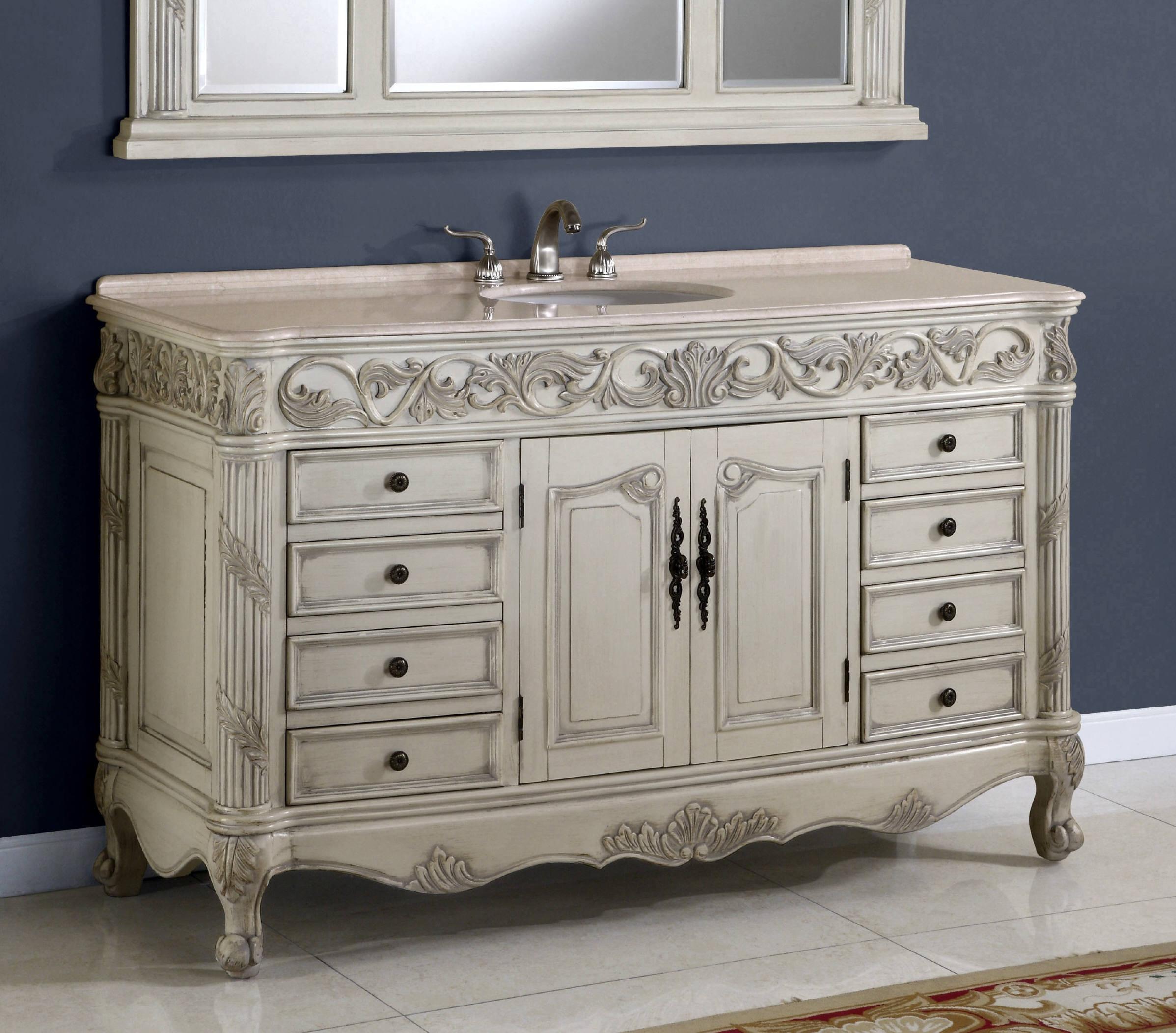 60 Bathroom Vanities  60 Inch Regent Vanity Single Sink Vanity