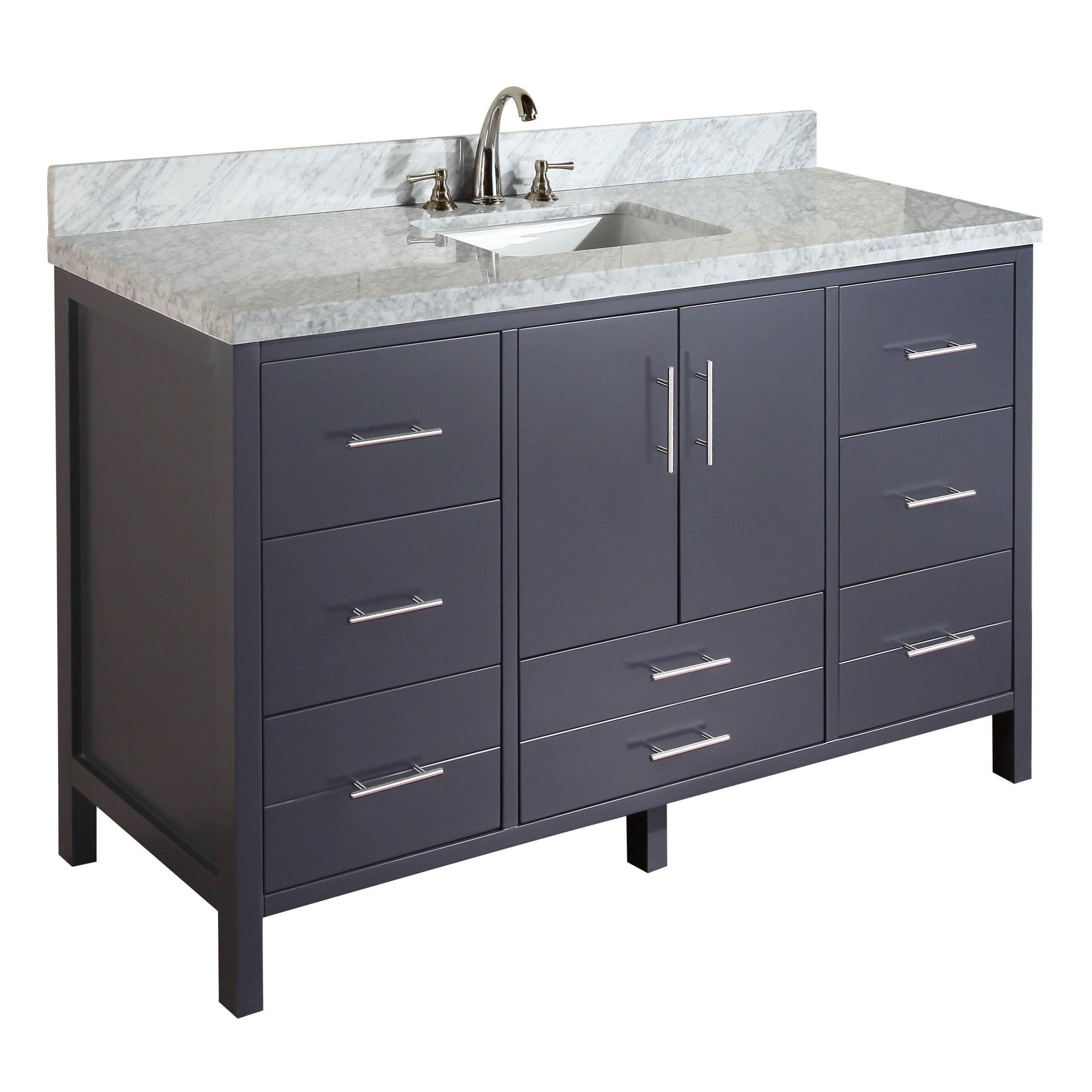 """60 Bathroom Vanities  KBC California 60"""" Single Bathroom Vanity Set & Reviews"""