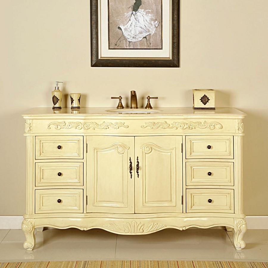 60 Bathroom Vanities  60 Inch Single Sink Bathroom Vanity in White Oak UVSR0273CM60