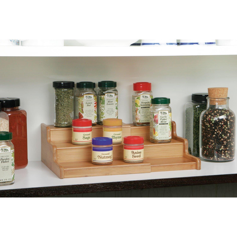 Amazon Kitchen Storage  Amazon Seville Classics 3 Tier Expandable Bamboo