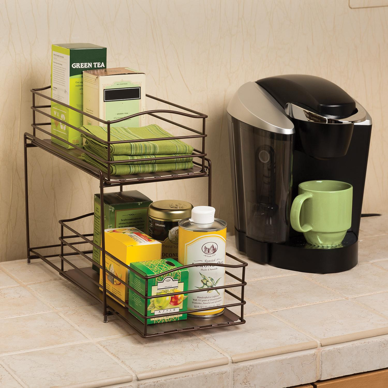 Amazon Kitchen Storage Inspirational Amazon Seville Classics 2 Tier Sliding Basket Kitchen