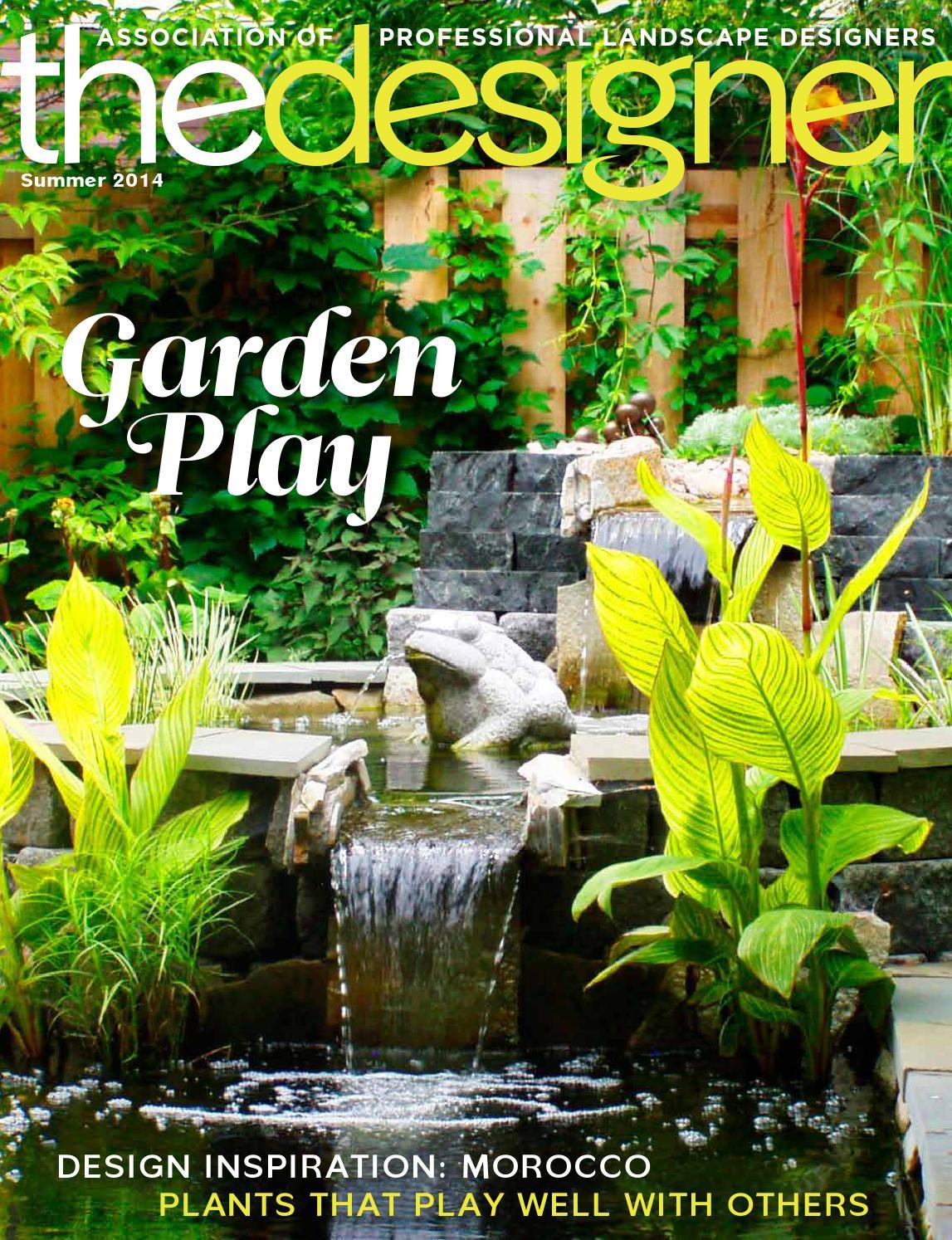Association Of Professional Landscape Designers  APLD The Designer Summer 2014 by Association of