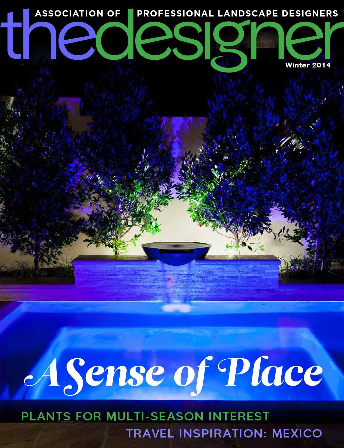 Association Of Professional Landscape Designers  APLD The Designer Winter 2014 by Association of