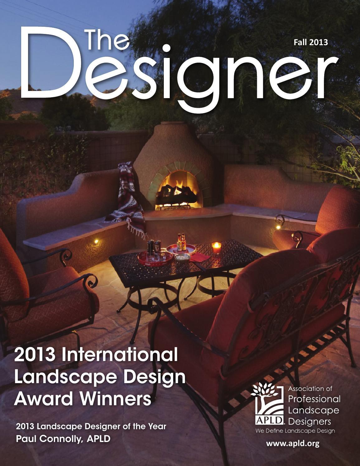 Association Of Professional Landscape Designers  ISSUU APLD The Designer Fall 2013 by Association of