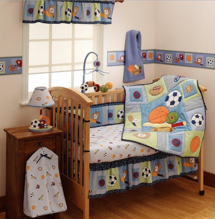 Baby Boy Bedroom Sets  Baby Boy Sports Crib Bedding Sets Home Furniture Design