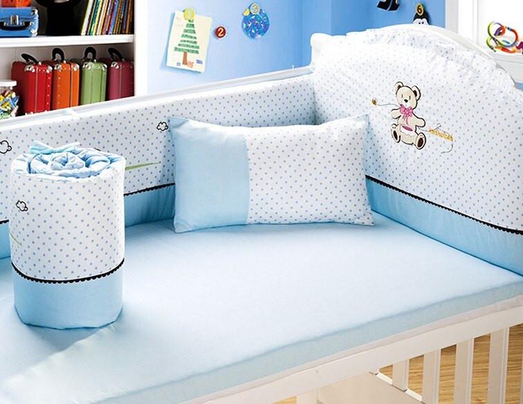 Baby Boy Bedroom Sets  Promotion 6PCS baby bedding set cotton baby boy bedding