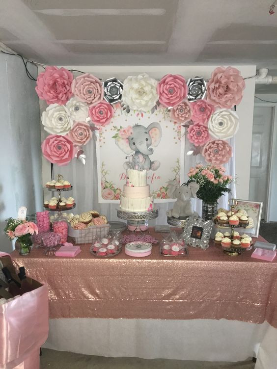 Baby Girl Shower Decorations Ideas  DIY Elephant Baby Shower Ideas DIY Sweetheart