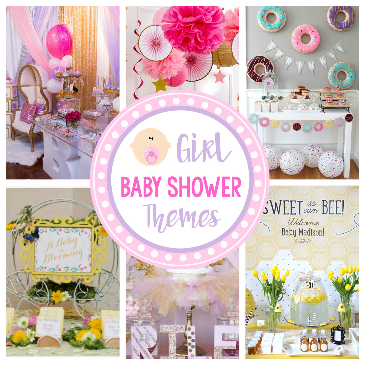 Baby Girl Shower Decorations Ideas  Cute Girl Baby Shower Themes & Ideas – Fun Squared