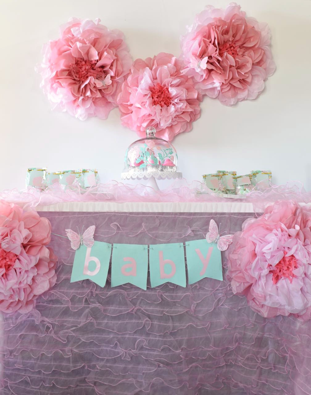 Baby Girl Shower Decorations Ideas  Girl Baby Shower Ideas Free Cut Files Make Life Lovely
