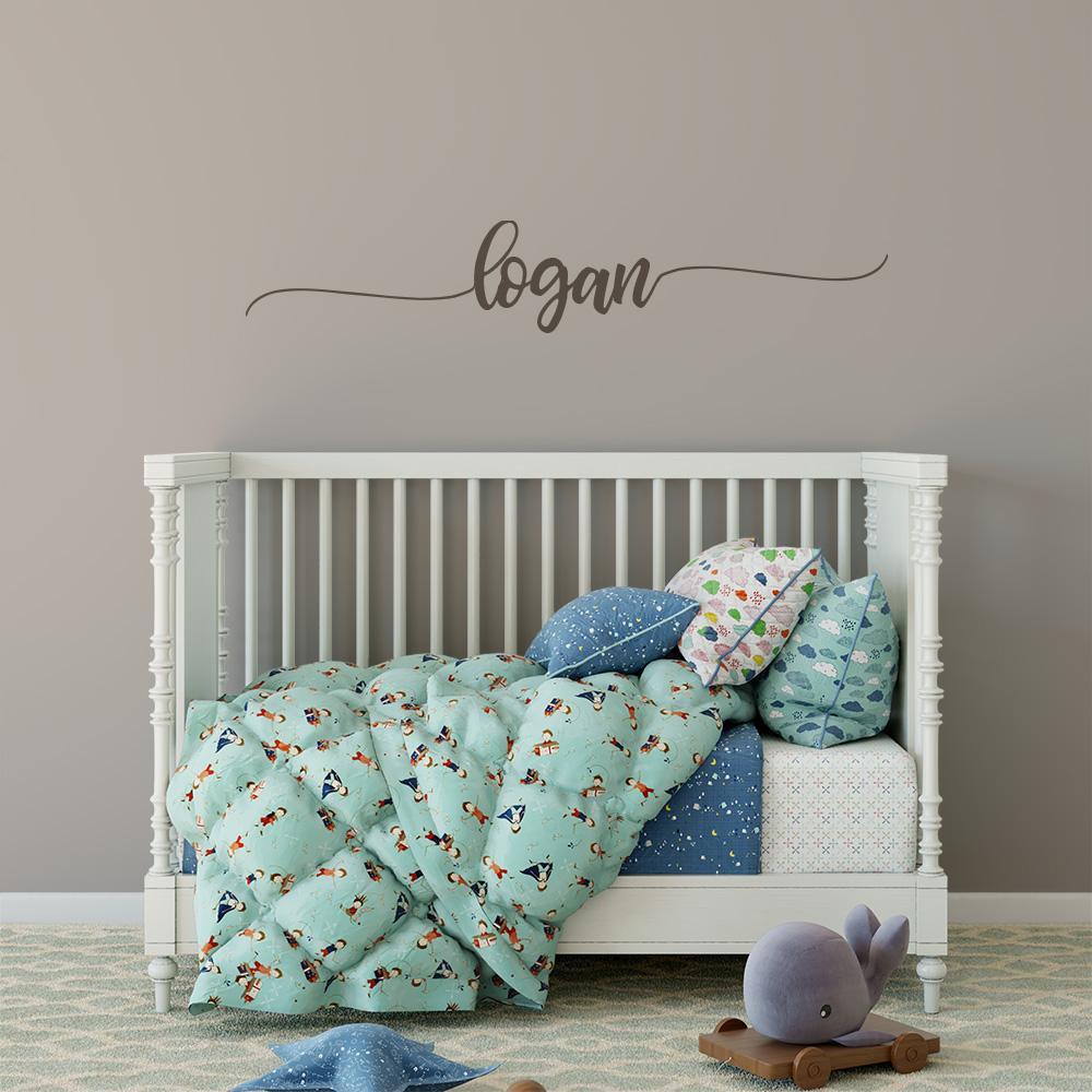 Baby Name Wall Decor Beautiful Baby Name Wall Decal Girl Boy Nursery Decor – Motomoms Decor