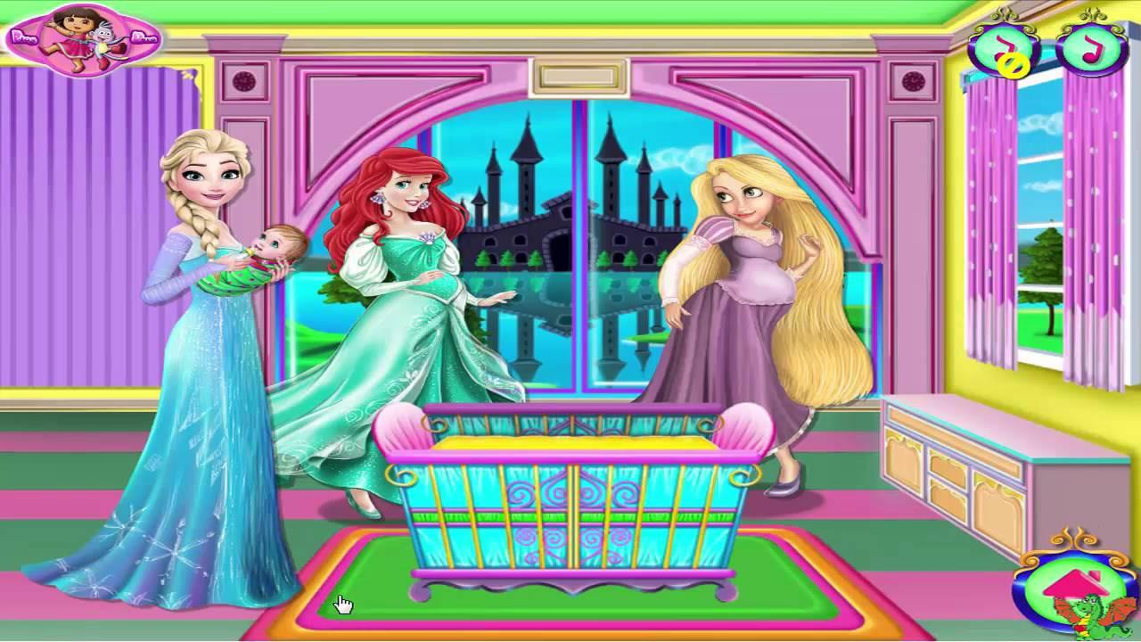 Baby Room Decoration Game  Princesses Baby Room Decor Game Disney Princess Video