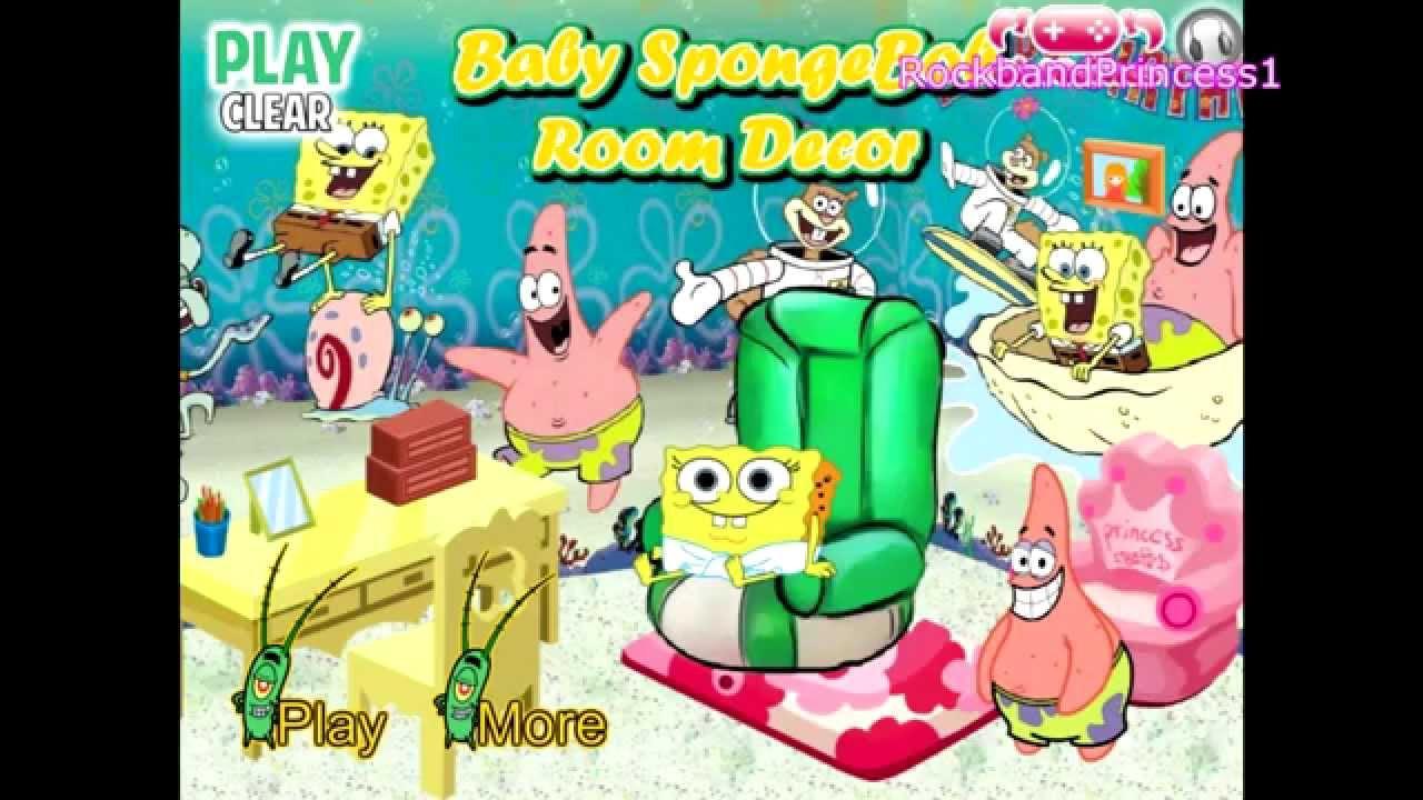 Baby Room Decoration Game  Spongebob Squarepants Baby Room Decor Play Kids Games