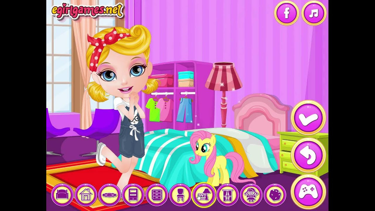 Baby Room Decoration Game  Baby Barbie My Girly Room Game Barbie Room Decoration
