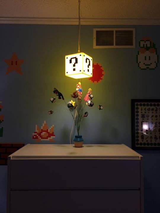 Baby Room Decoration Game  Super Mario Block Light Nintendo Baby Nursery