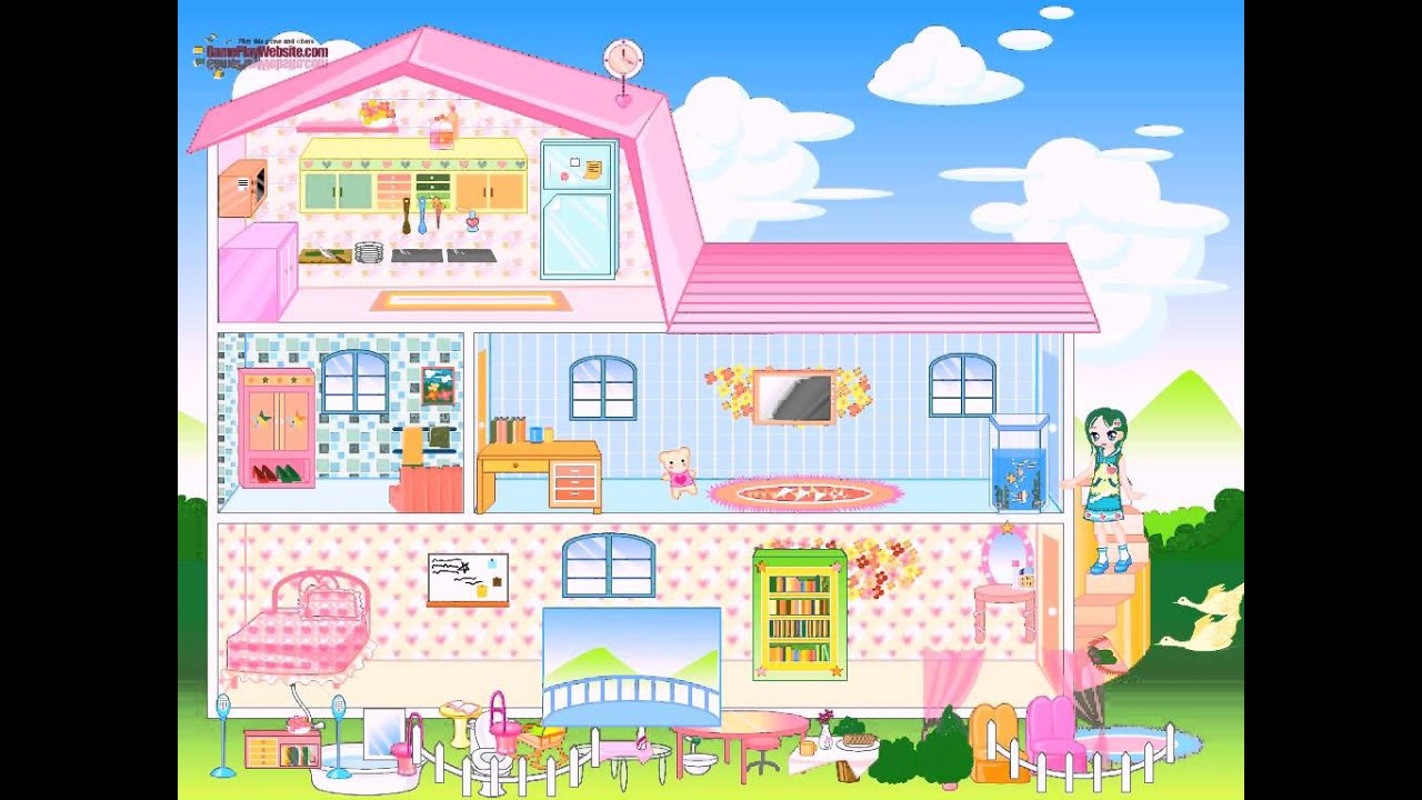 Baby Room Decoration Game  Barbie House Dress up and Home Decoration Game Baby Girl