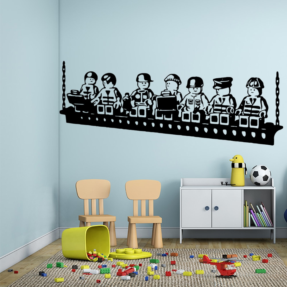Baby Room Decoration Game  Cartoon LEGO Game Vinyl Wall Sticker Poster Decor For Baby