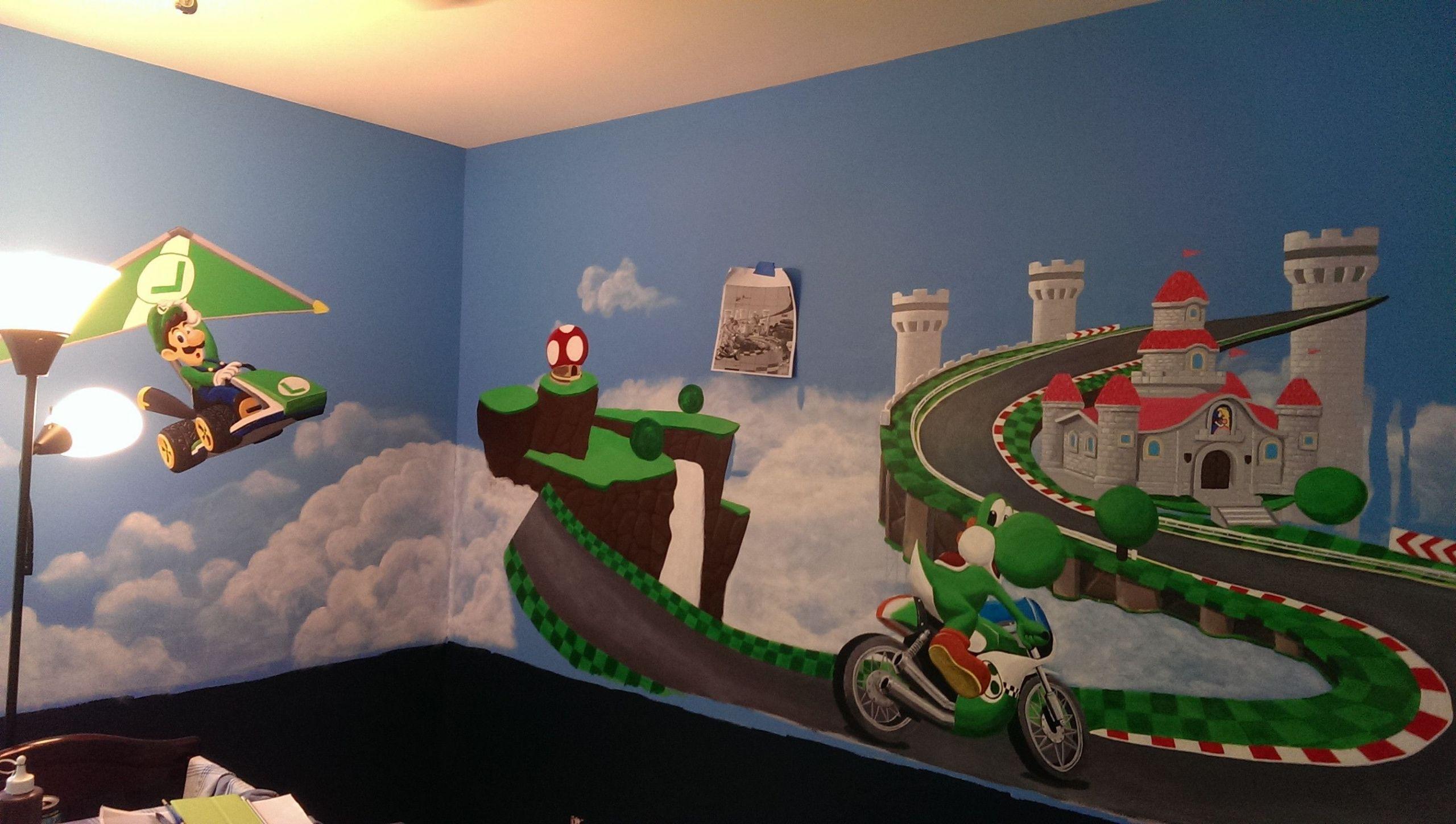 Baby Room Decoration Game  Mario Kart 8 themed Baby Nursery