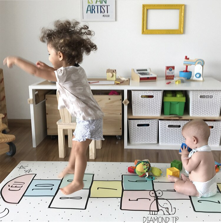 Baby Room Decoration Game  Hopscotch Baby Carpet Cotton Rug Baby Play Mat Activity