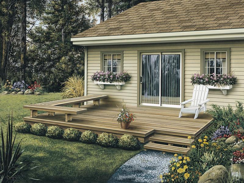 Backyard Deck Plans  Dewey Low Patio Decks Plan 002D 3004