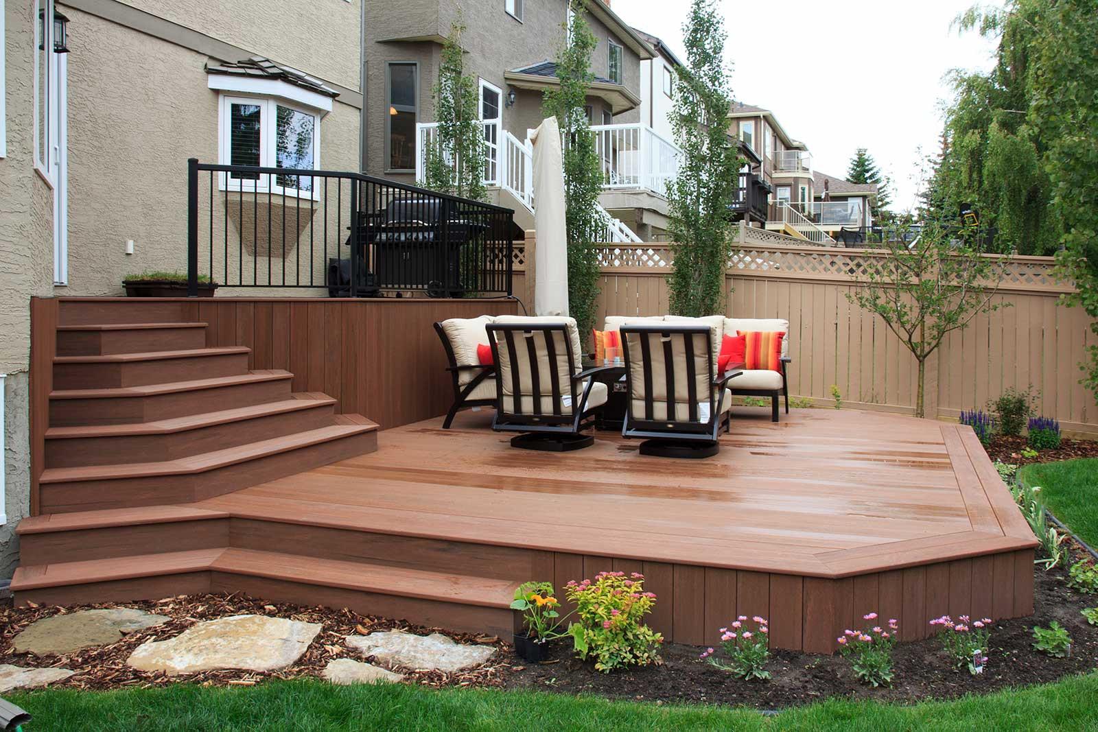 Backyard Deck Plans  Trends in Backyard Landscaping 2 posite Deck Materials