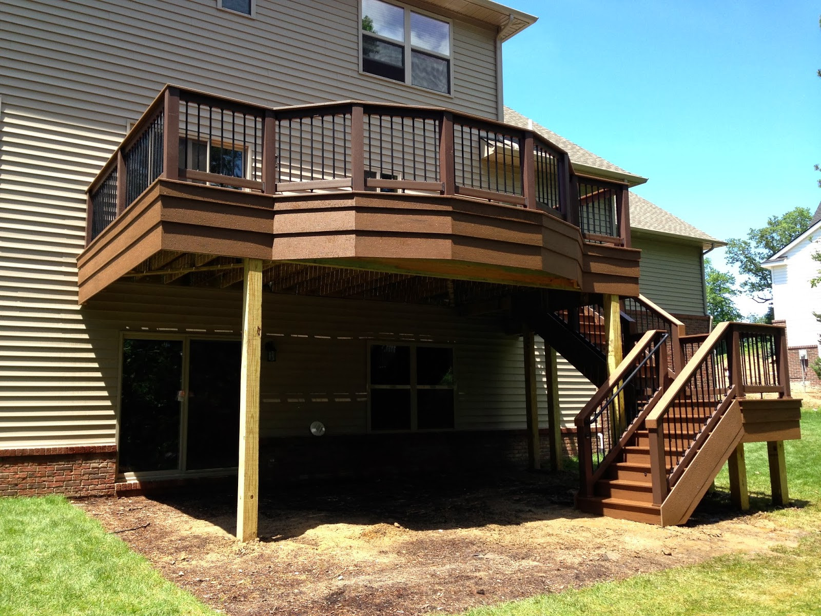 Backyard Deck Plans  Outdoor Living Deck designs from 2013 Adding flair to a