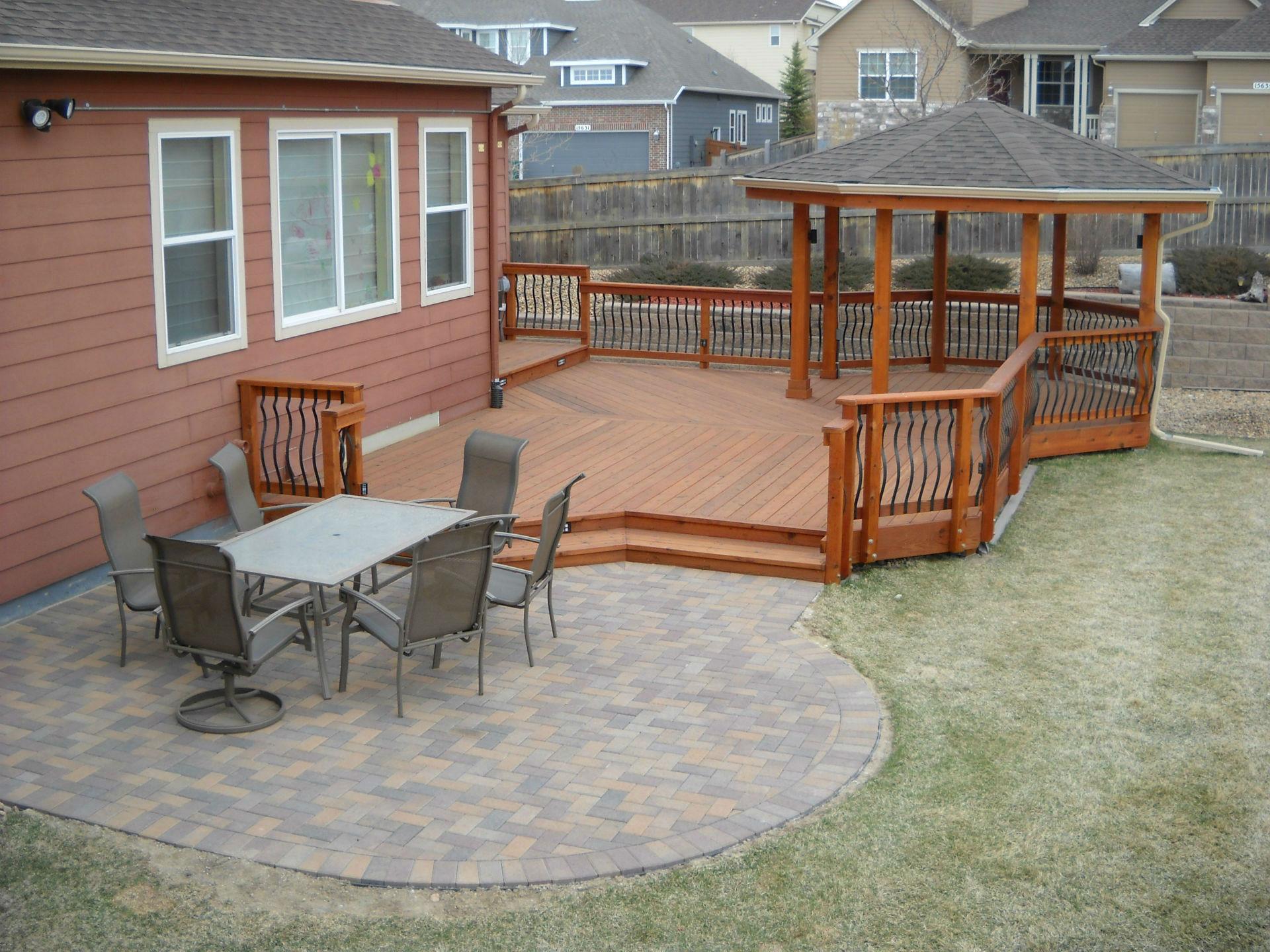 Backyard Deck Plans  Deck & Patio binations DeckTec Outdoor Designs