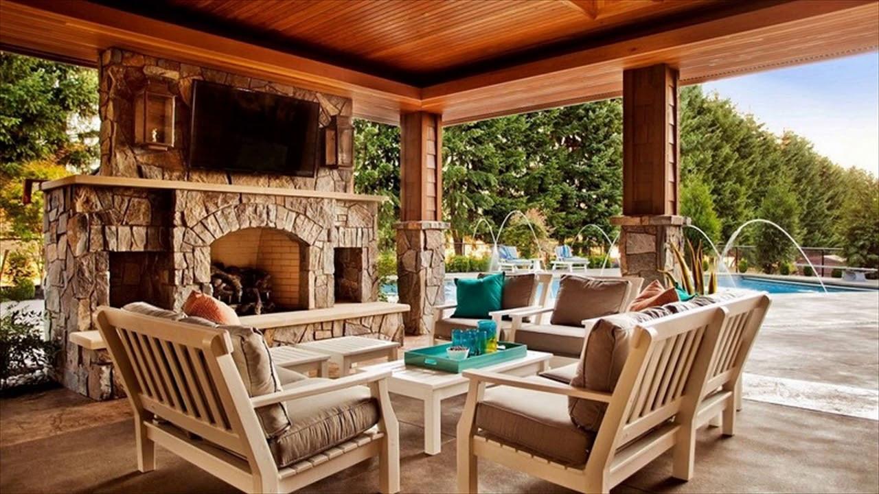 Backyard Deck Plans  Outdoor Patio Fireplace Ideas Designs For Backyard