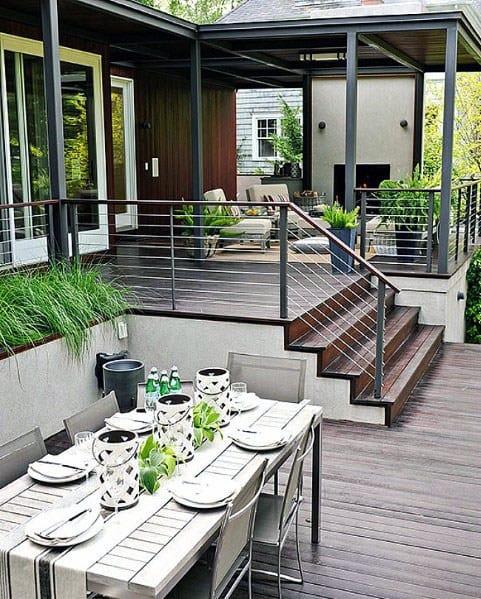 Backyard Deck Plans  Top 50 Best Modern Deck Ideas Contemporary Backyard Designs