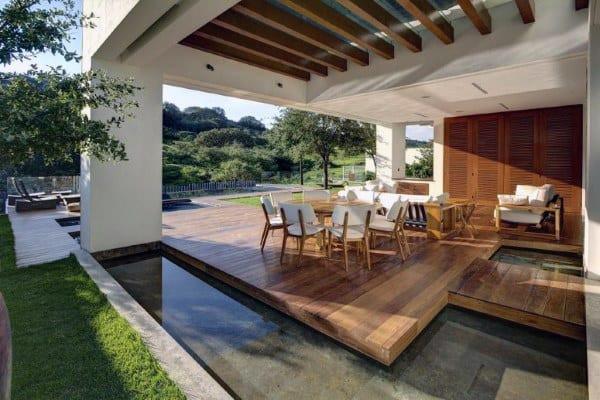 Backyard Deck Plans  Top 60 Best Backyard Deck Ideas Wood And posite
