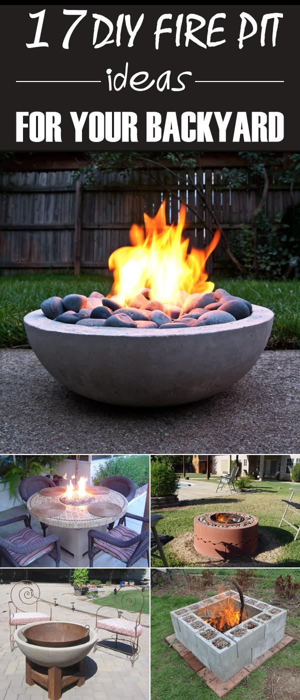 Backyard Fire Pit Ideas Diy  17 DIY Fire Pit Ideas for Your Backyard