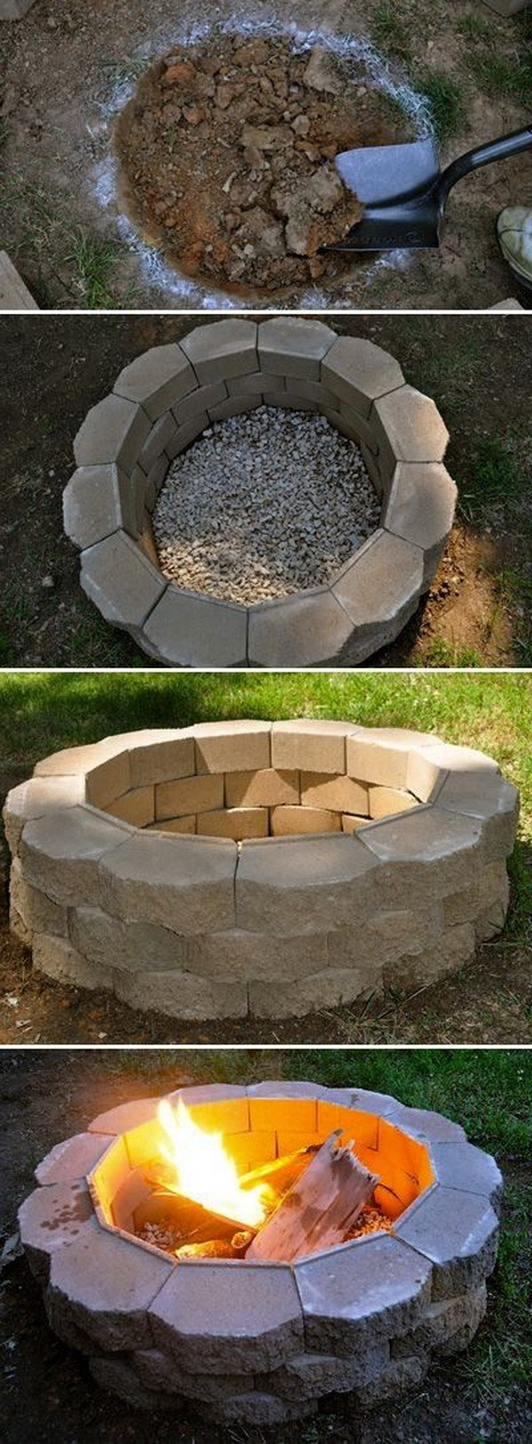 Backyard Fire Pit Ideas Diy  20 DIY Fire Pits for Your Backyard with Tutorials