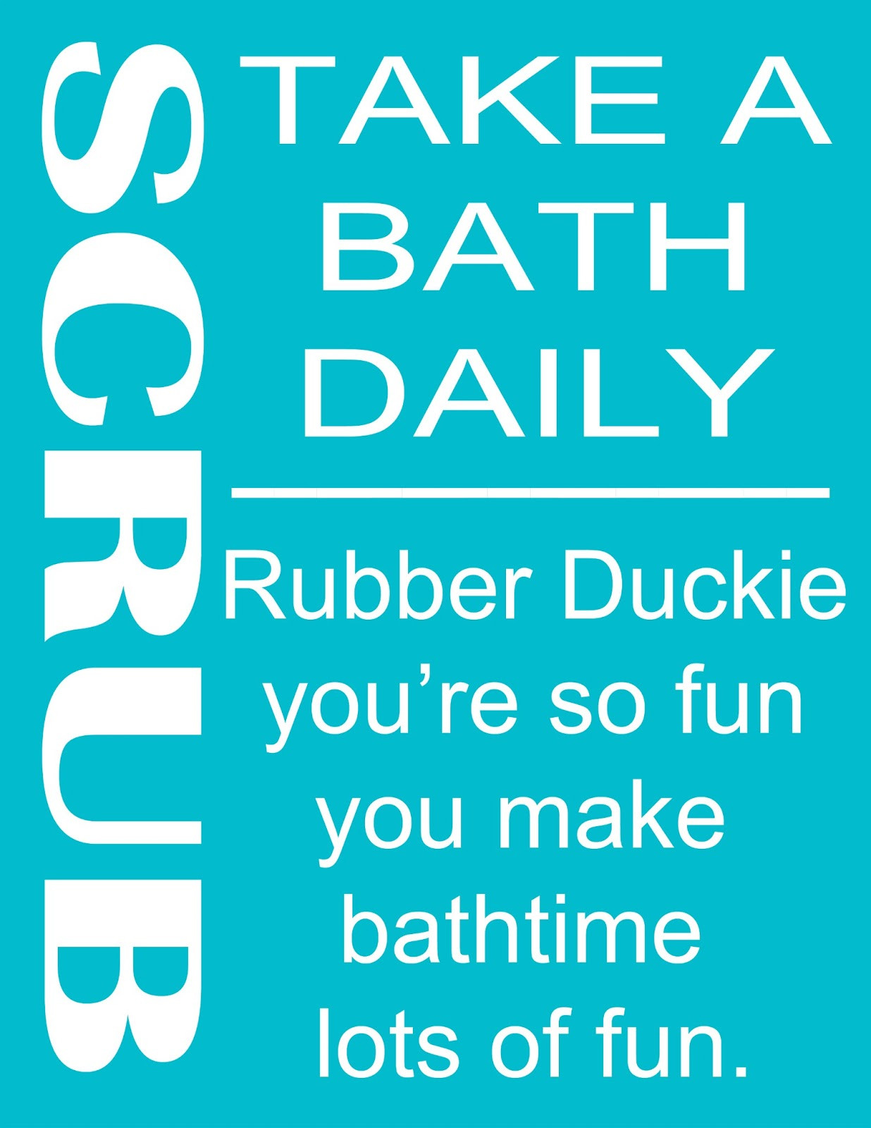 Bathroom Rules For Kids  Second Chance To Dream 4 Kids Bathroom Rules Printables