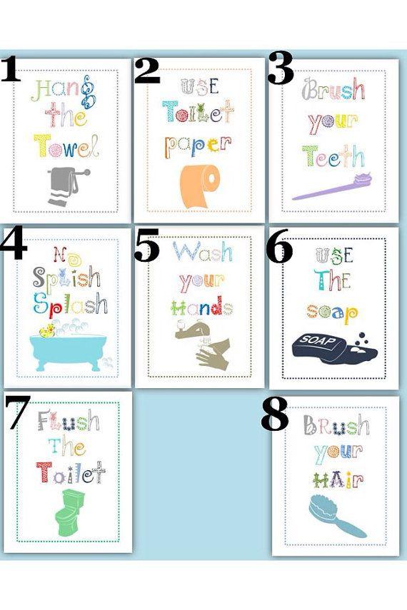 Bathroom Rules For Kids  Pin by Little pergola Art on my art