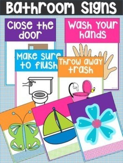 Bathroom Rules For Kids  Printable Bathroom Rules & Reminder Signs – Do Your Kids