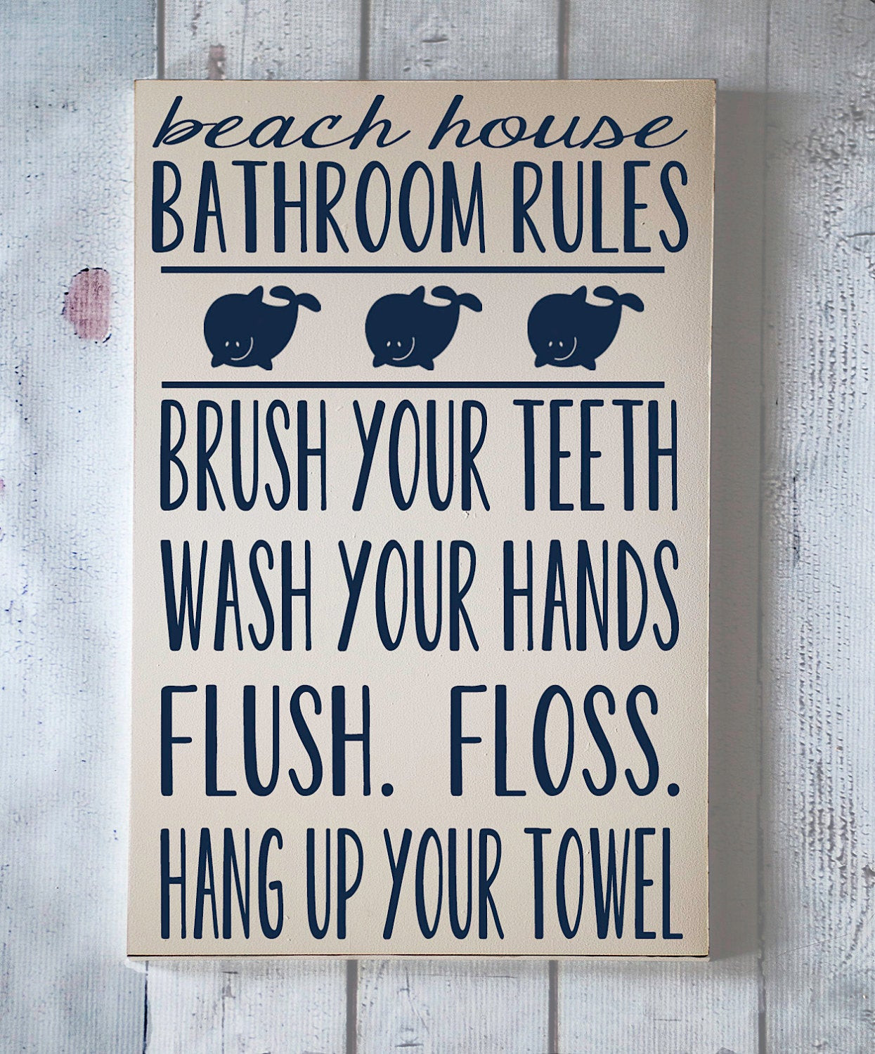 Bathroom Rules For Kids  Children Wall Art Beach Theme Bathroom Rules by vinylcrafts