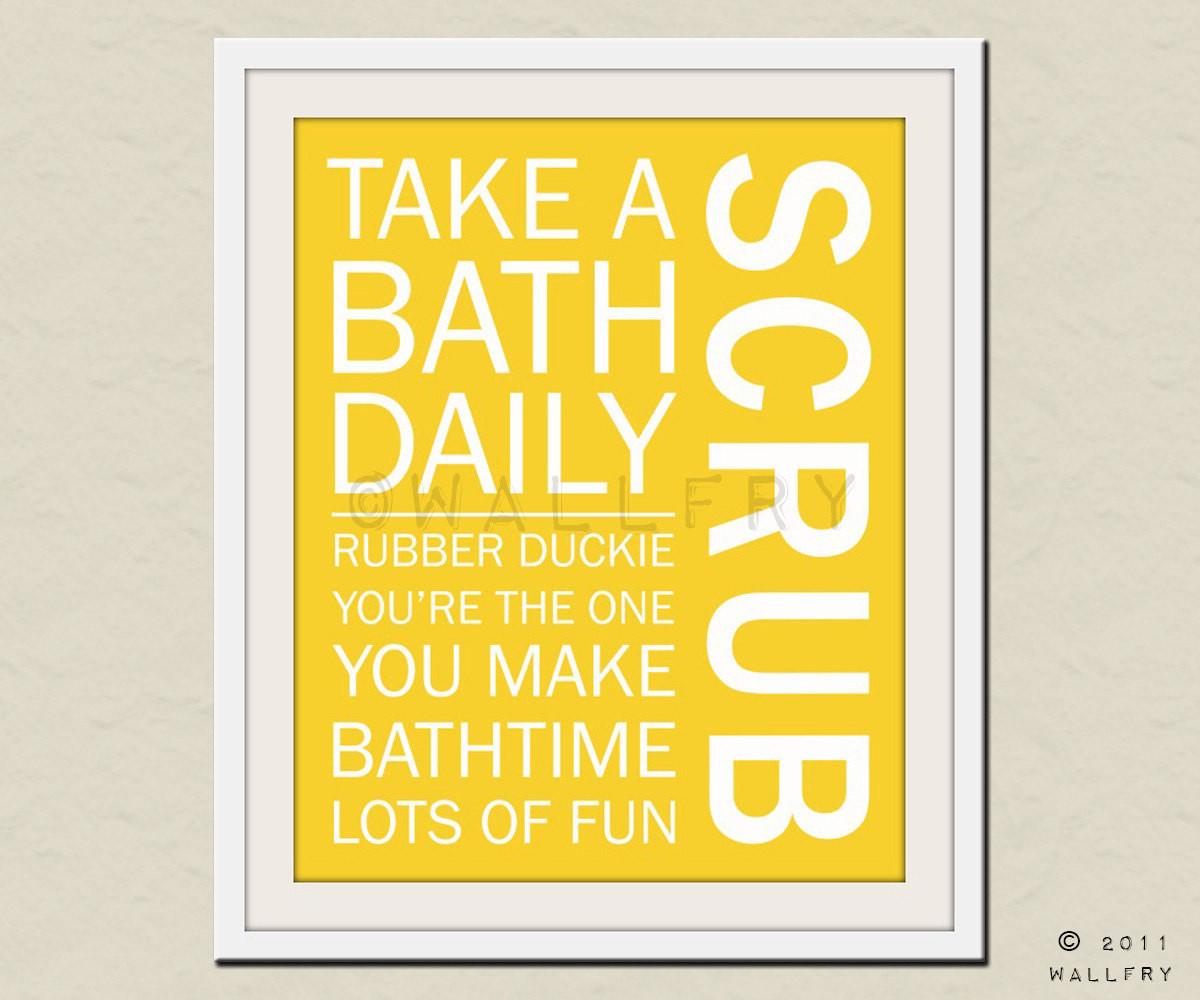 Bathroom Rules For Kids  Bathroom art Kids Bathroom rules Bathroom prints by Wallfry