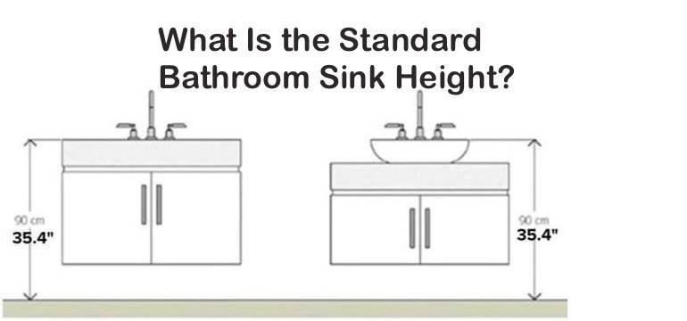 Bathroom Sink Height Elegant What is the Standard Bathroom Sink Height