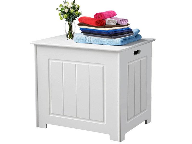 Bathroom Storage Boxes  Pair Grey Bedroom Bedside Table Unit Cabinet Nightstand