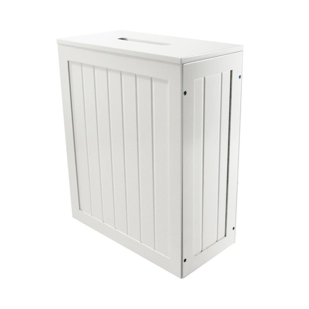 Bathroom Storage Boxes  Small White Shaker Wooden Bathroom Storage Unit