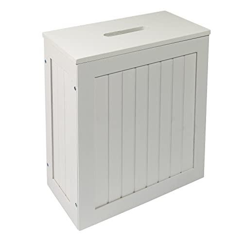 Bathroom Storage Boxes  Maine White Bathroom Storage Unit Toilet Cleaning Tidy Box