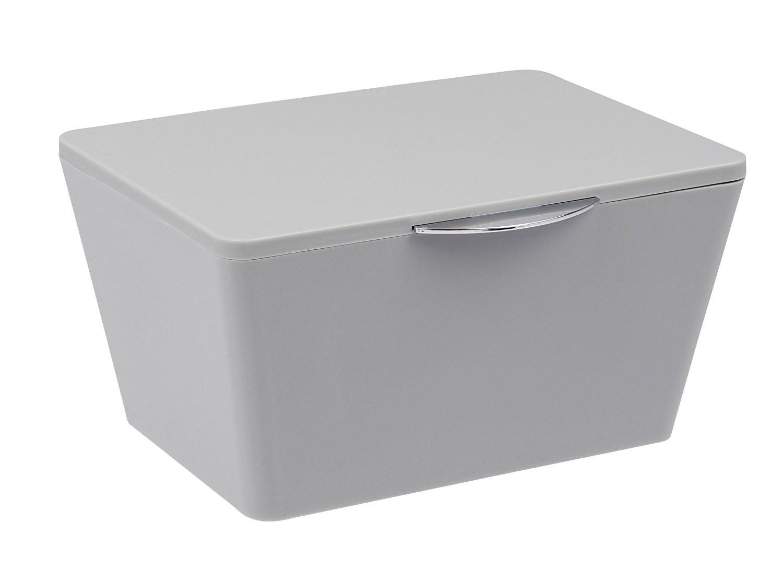 Bathroom Storage Boxes  Wenko Brasil Grey Bathroom Storage Box with lid