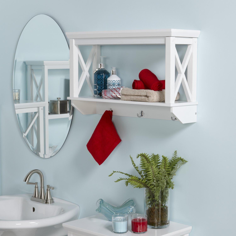 Bathroom Wall Storage Shelves Awesome 20 Best Wooden Bathroom Shelves Reviews