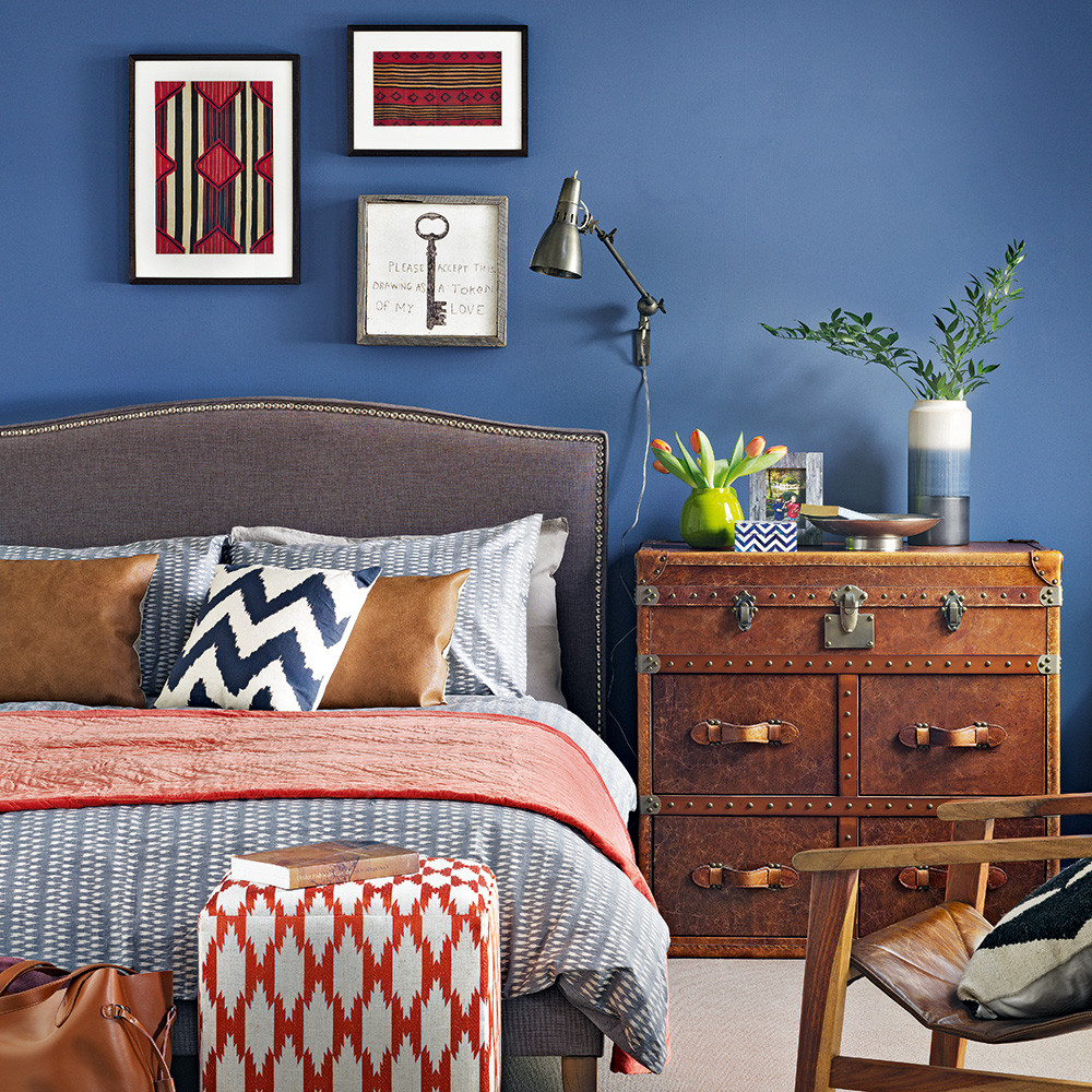 Bedroom With Blue Walls  Blue bedroom ideas – see how shades from teal to navy can