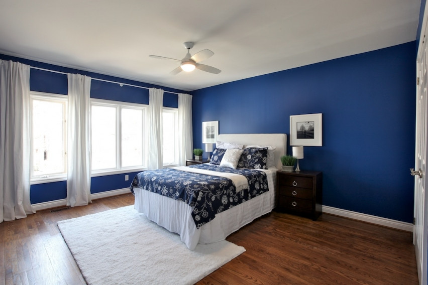 Bedroom With Blue Walls  How to Apply the Best Bedroom Wall Colors to Bring Happy