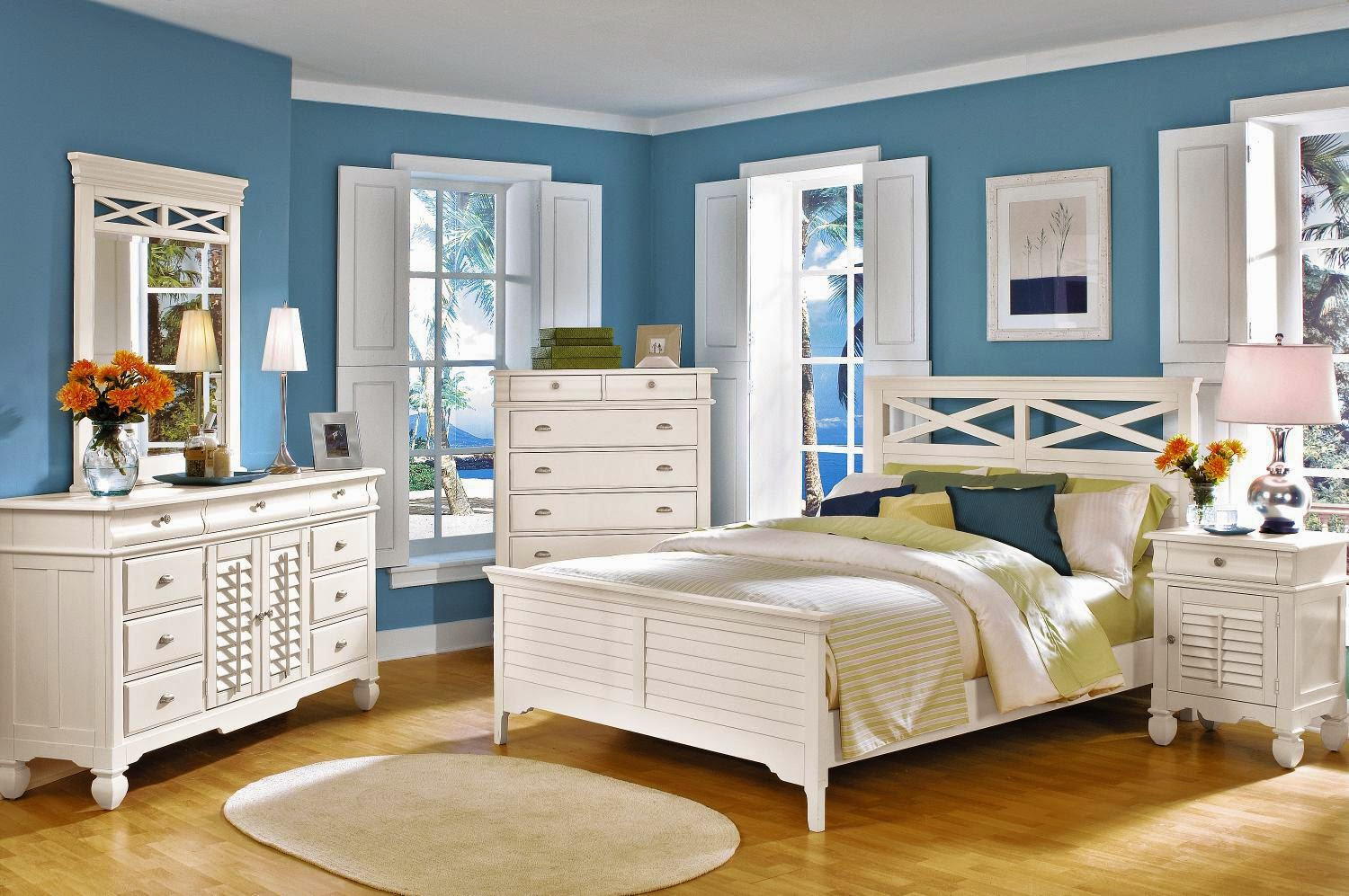 Bedroom With Blue Walls  Bedroom Decorating Ideas for Blue Walls dashingamrit