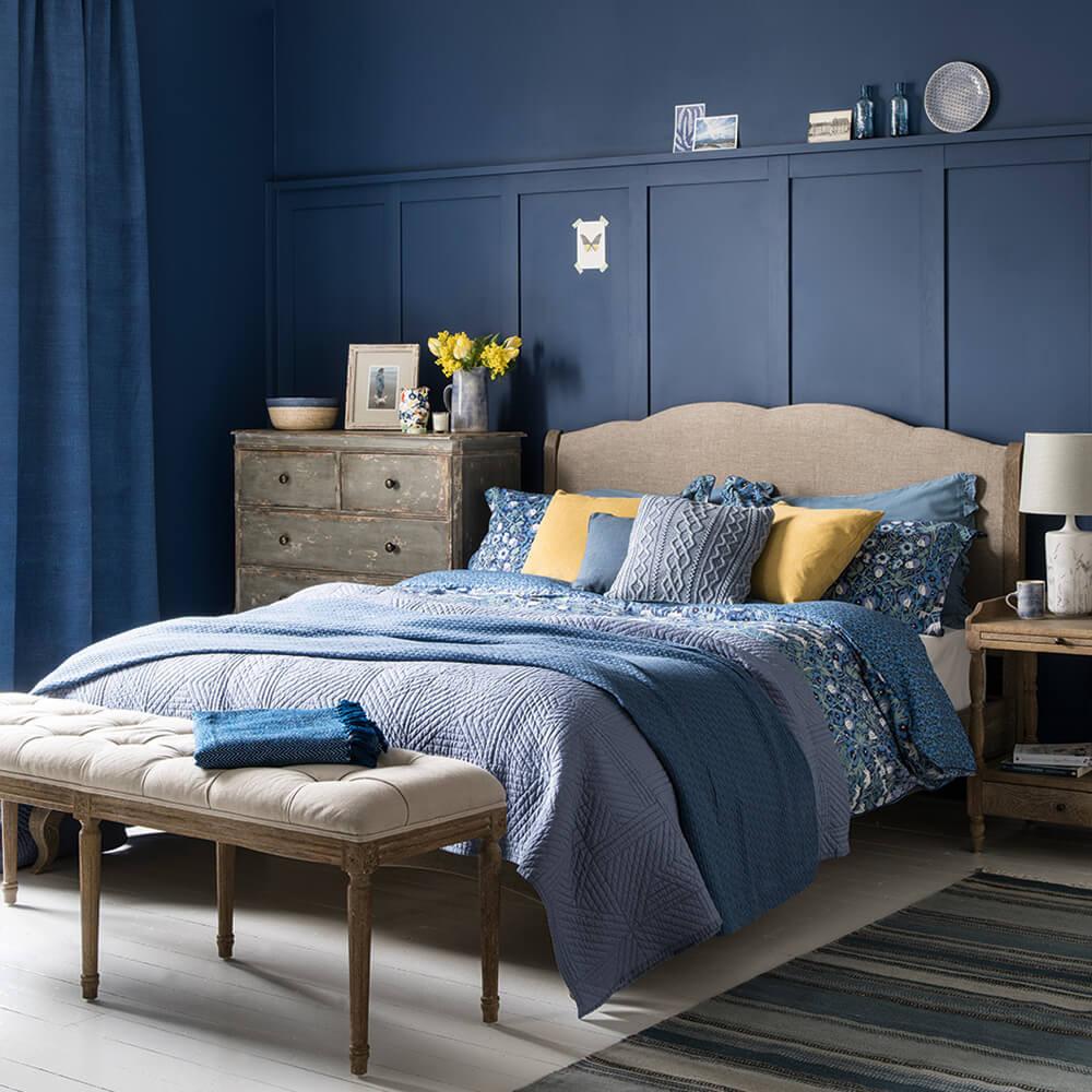 Bedroom With Blue Walls  Best Bedroom Design Trends for 2020