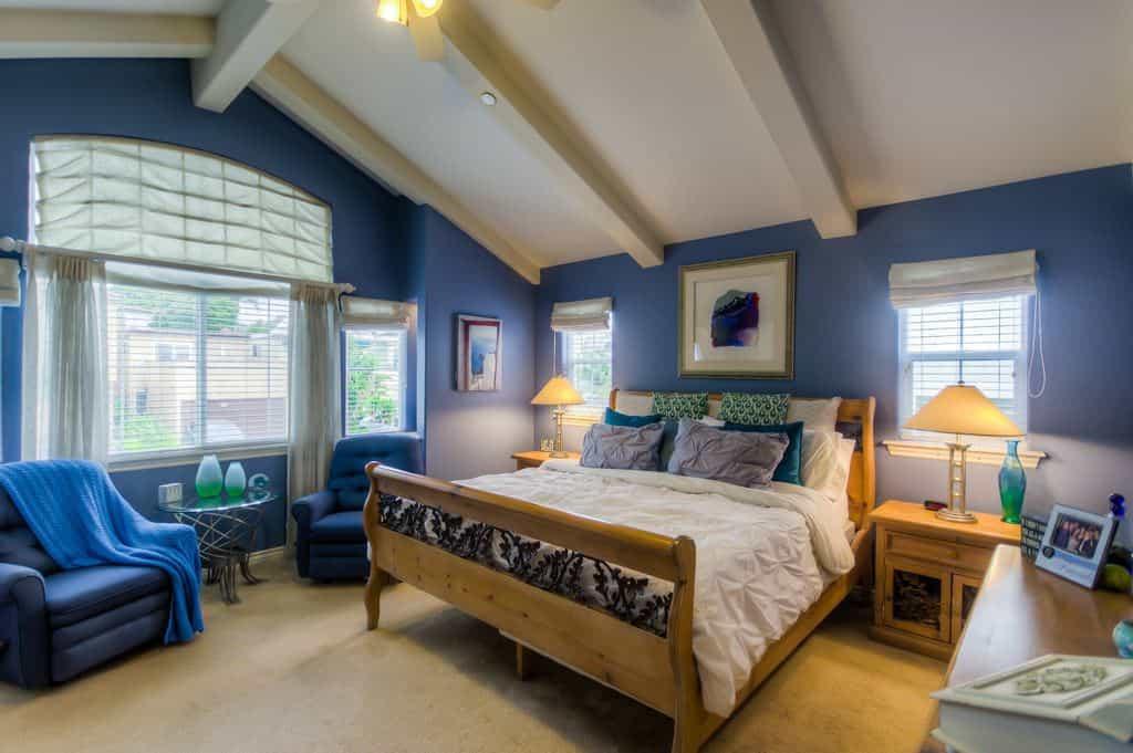 Bedroom With Blue Walls  50 Blue Master Bedroom Ideas s